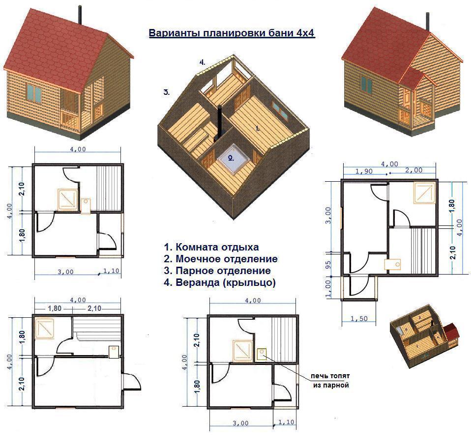 Проект дома 4х4 своими руками